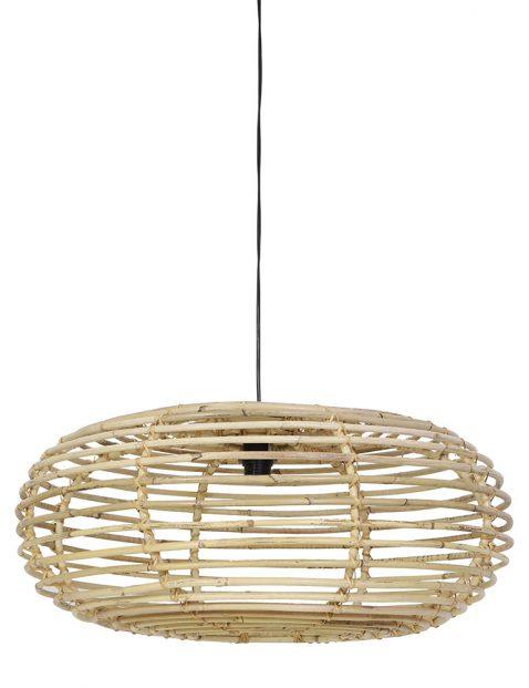 1970BE-Ovale rotan hanglamp