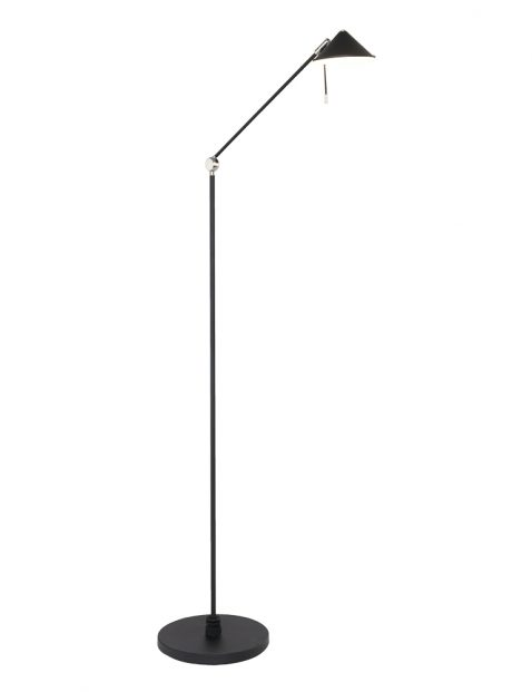 Zwarte LED vloerlamp Steinhauer Punkt