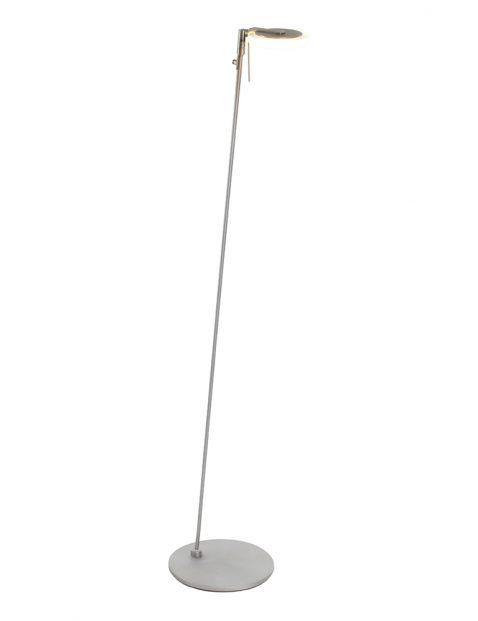 Moderne vloerlamp met dunne reflector Steinhauer Turound staal met glas