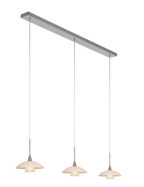 Eettafellamp met schotels Steinhauer Tallerken staal