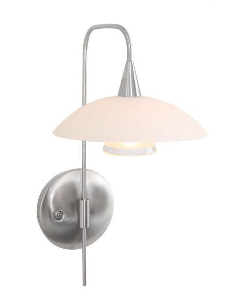 Wandlamp met schotel Steinhauer Tallerken staal