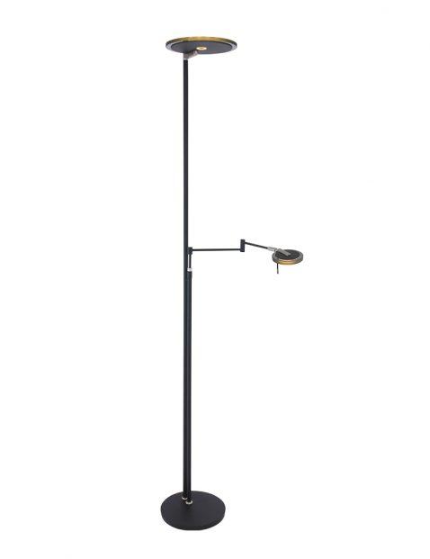 Zwarte leeslamp met zwart glas Steinhauer Turound