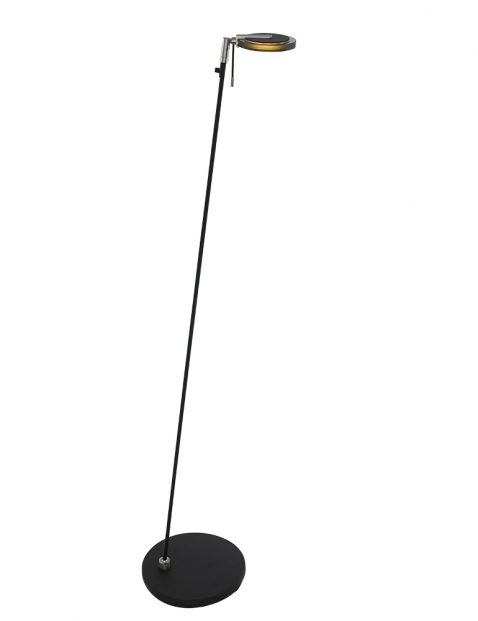 Dunne staande LED lamp Steinhauer Turound zwart met donker glas