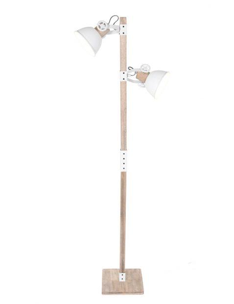 Scandinavische vloerlamp met witte kapjes Mexlite Gearwood