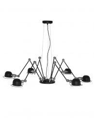 Spin hanglamp Mexlite Davin zwart