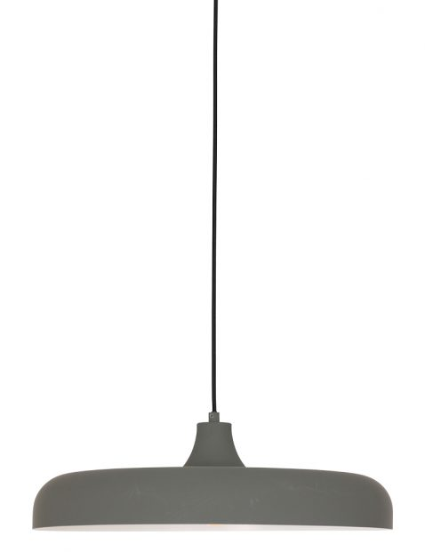 Platte ronde hanglamp Steinhauer Krisip grijs