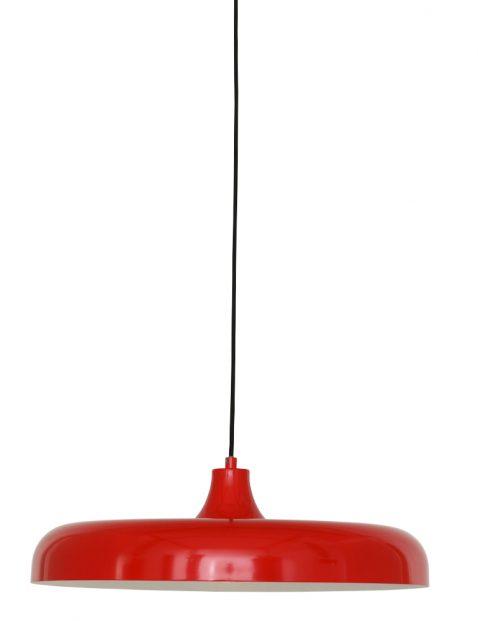 Platte ronde hanglamp Steinhauer Krisip rood