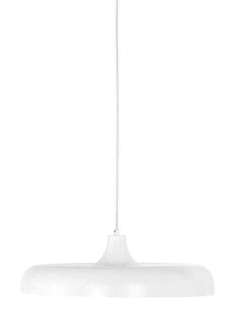 Platte ronde hanglamp Steinhauer Krisip wit