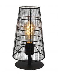 Sfeerlamp tafellamp draadlamp Steinhauer Gaze zwart