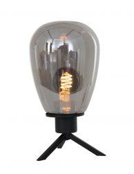 Donkerglas tafellampje Steinhauer Reflexion zwart