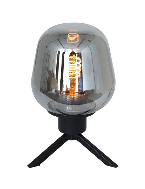 Driepoot glazen tafellampje Steinhauer Reflexion zwart