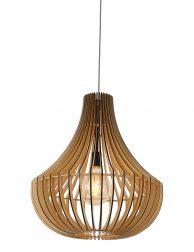 Spijlen hanglamp druppelvorm Steinhauer Smukt hout