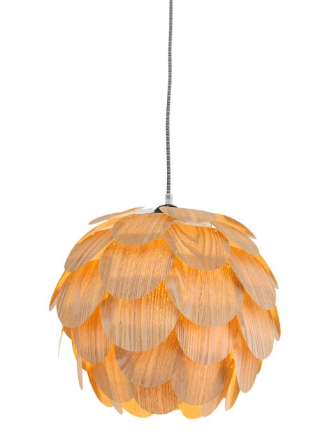 Houten bloem hanglamp Mexlite Finn