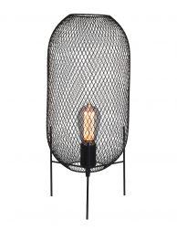 Tafellampje van gaas Mexlite Bodine zwart