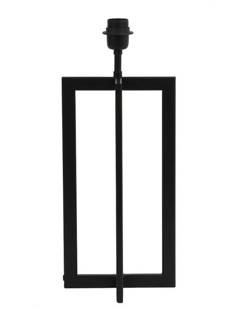 Strakke zwarte lampenvoet Light & Living Mace