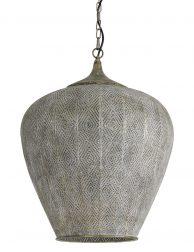 Oosterse hanglamp met gaatjes Light & Living Lavello grijs