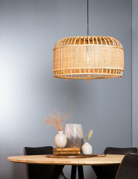 2791BE-Webbing rotan hanglamp