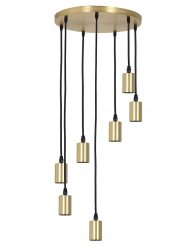 Zevenlichts pendellamp Light & Living Brandon goud