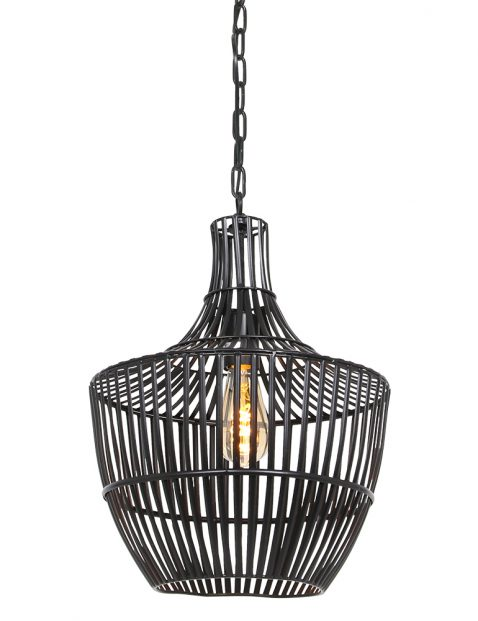 Zwarte hanglamp draadlamp Light & Living Stella