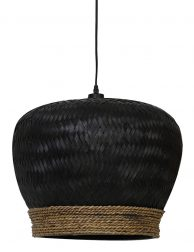 Zwarte rotan hanglamp Light & Living Evelie