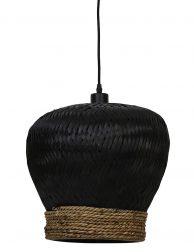 Gevlochten hanglamp Light & Living Mikki zwart