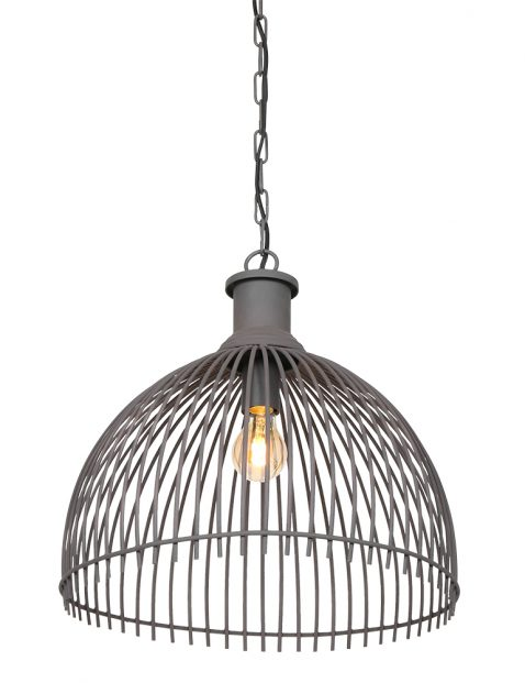 2864GR-Halfronde draad hanglamp