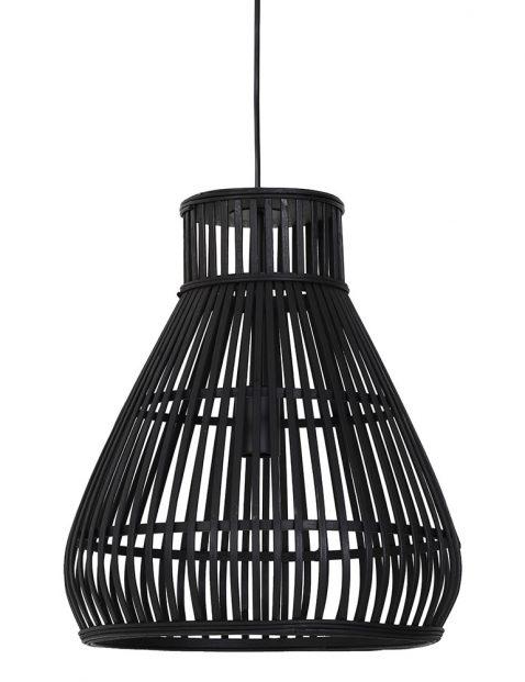 2872ZW-Platte houten draadlamp