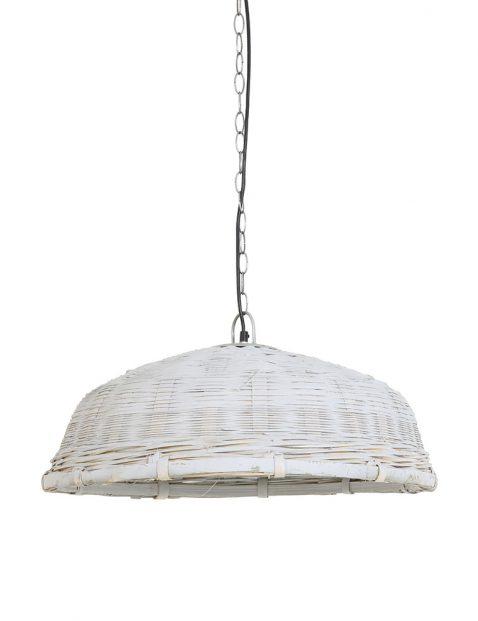 Witte rotan hanglamp Light & Living Jaelynn