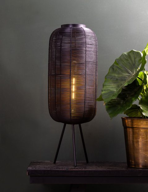 2908ZW-Rotan tafellamp