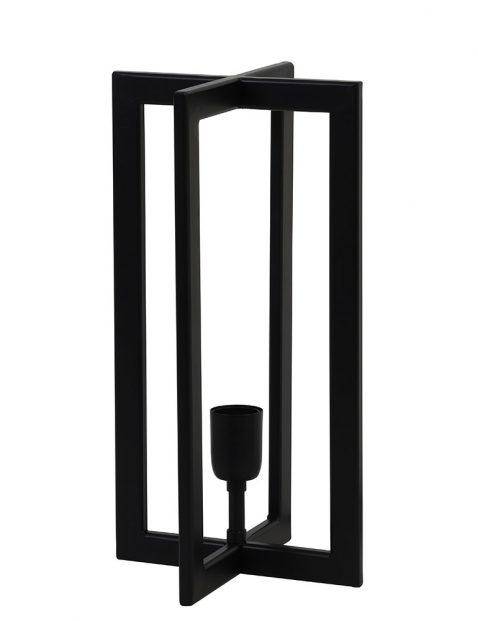 vierkante tafellamp Light & Living Mace zwart