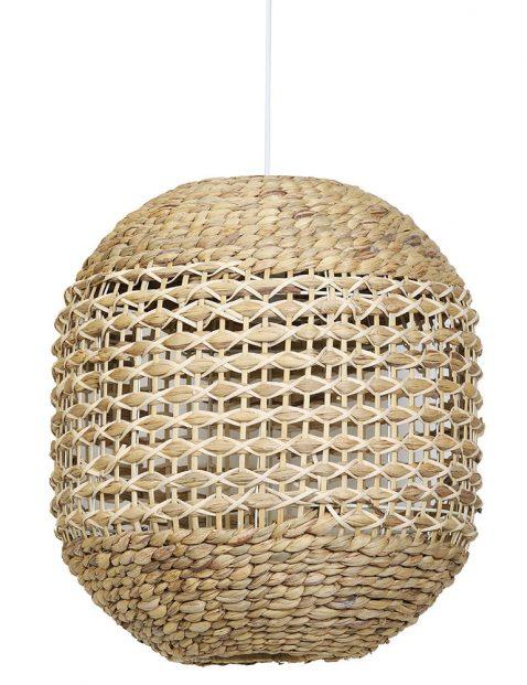 Gevlochten hanglamp Light & Living Tripoli wit