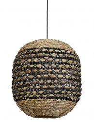 Gevlochten rotan hanglamp Light & Living Tripoli bruin