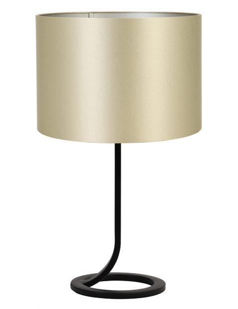 Vloeiende lampenvoet met gouden kap Light & Living Mavey zwart