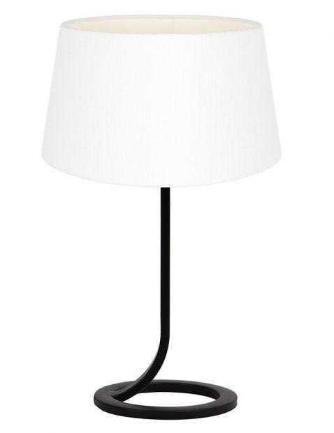 Lampenvoet vloeiend met witte kap Light & Living Mavey zwart