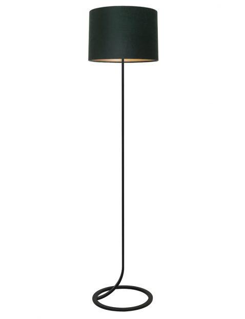 Lampenvoet vloerlamp met groene kap Light & Living Mavey zwart