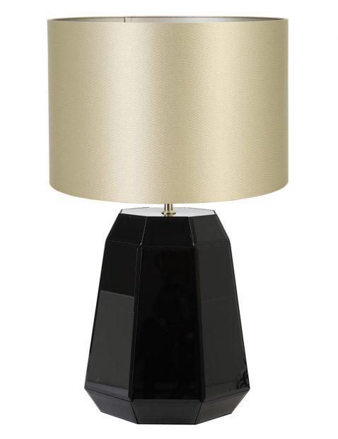 Lampenvoet glanzend met gouden kap Light & Living Hector zwart