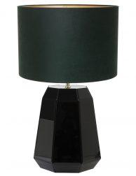 Lampenvoet glanzend met groende kap Light & Living Hector zwart
