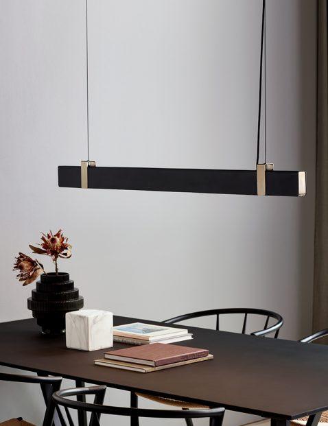 Strakke metalen LED hanglamp-3009ZW