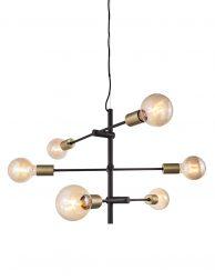 Speelse zeslichts hanglamp-3014ZW