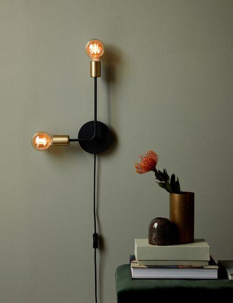 Tweelichts pendel wandlamp-3015ZW