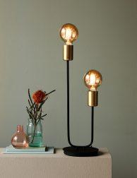 Tweelichs pendel tafellamp-3016ZW