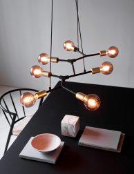 Zevenlichts molecuul hanglamp-3017ZW