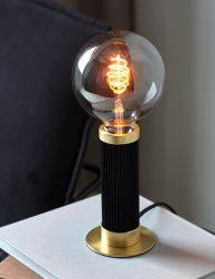 Staande tafellamp met gouden details-3019ZW