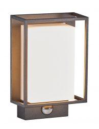 Rechthoekige buiten wandlamp met sensor-3045ZW