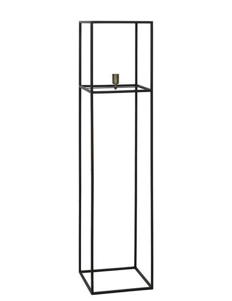 Zwart frame vloerlamp-