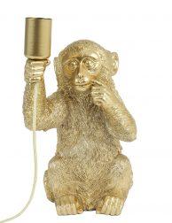 Goud aapje met lampenfitting-