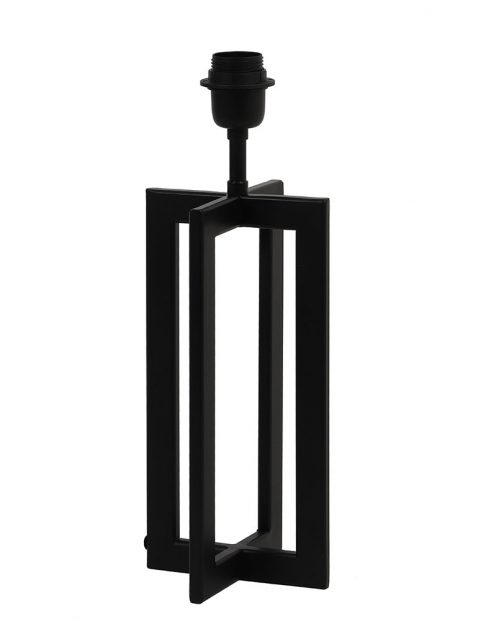 Lampenvoet zwart frame zonder kap-