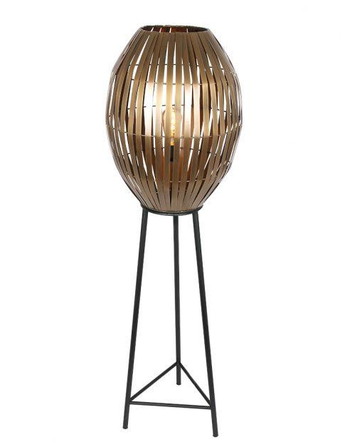 Zwarte staande sfeermaker met gouden draadbol-