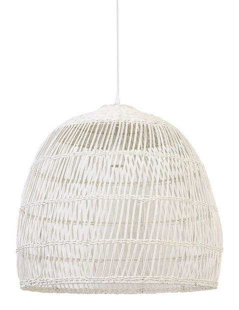 Grote witte rotan hanglamp-