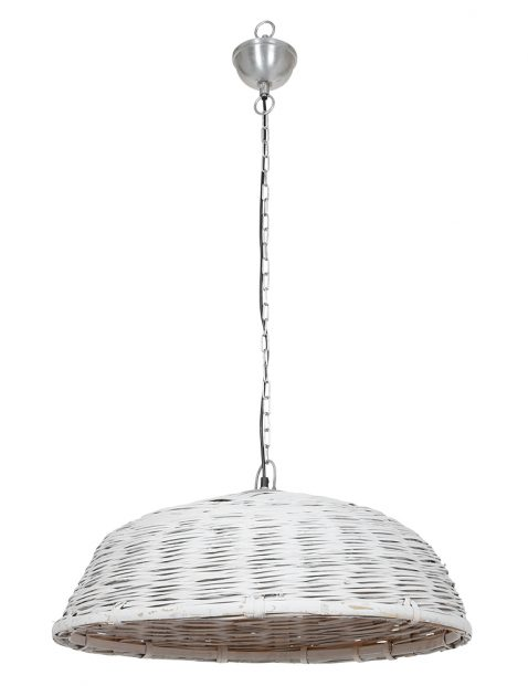 Ronde rieten hanglamp-